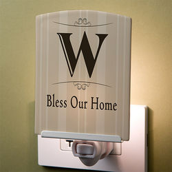 Elegant Monogram Personalized Night Light