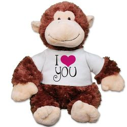 I Love You Monkey Plush