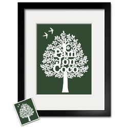 Personalized Paper Cut Out 8x10 Family Tree