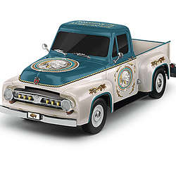 F100 Ford Truck Sculpture with Indian Head Nickel