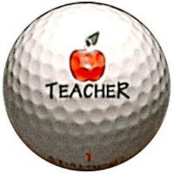 Apple for the Teacher Golf Ball