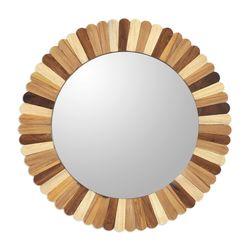 Woodland Delight Wood Wall Mirror