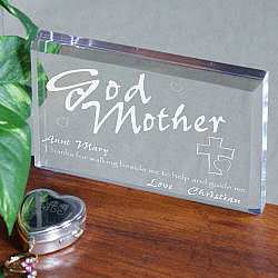 Personalized Godmother Paperweight
