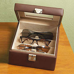 Personalized Leather Eyeglass Valet