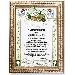 Irish Baptismal Prayer Framed Print for Boy