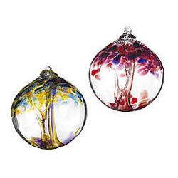 Recycled Glass Tree Globe