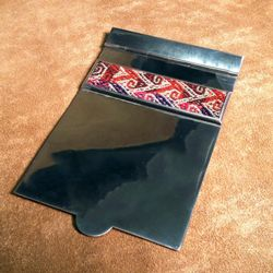 Fine Pewter and Cotton Notepad