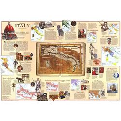 1995 Historical Map of Italy
