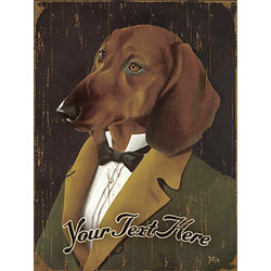 Personalized Vintage Dachshund Wooden Plaque