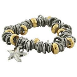 Multi Beaded Starfish Charm Bracelet
