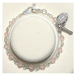 Baby's Pink Rosary Bracelet