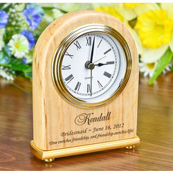 Personalized Bridesmaid Arch Clock