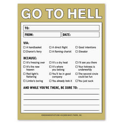 Go to Hell Nifty Note