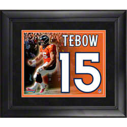 Tim Tebow Framed Jersey Number Collage
