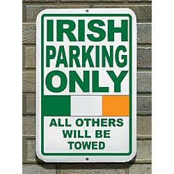 Personalized Irish Parking Sign