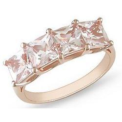 Morganite 14K Pink Gold Ring