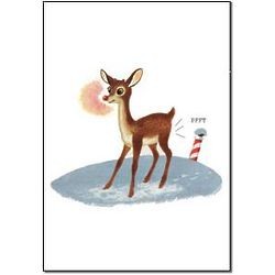 Rudolph Fart Christmas Card