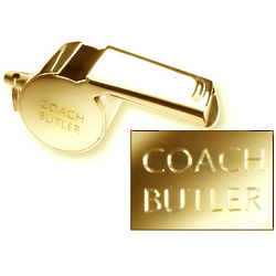Personalized Gold Tone Coach's Whistle