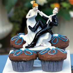 Taking the Plunge Bride and Groom Cake Topper
