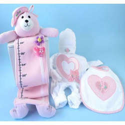 Sweetheart Plush Growth Chart Gift Set