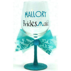 Head Over Heels Bridesmaid Wine Glass
