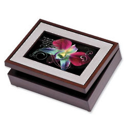 Custom Musical Jewelry Photo Keepsake Box