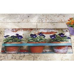 Pansy Flowers Doormat
