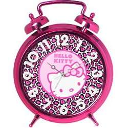 Hello Kitty Pink Leopard Bell Alarm Clock