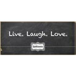 Live, Laugh, Love Personalized Blackboard Canvas Print