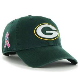 Men's Packers Pink Ribbon Baseball Cap