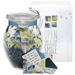 Calm Breeze Jar of Messages in Mini Envelopes