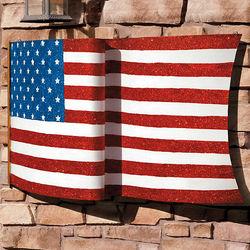 US Flag Metal Yard Decoration