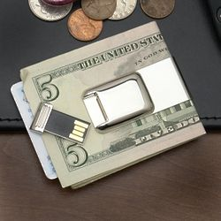 Silver Money Clip With 2GB USB Flash Drive