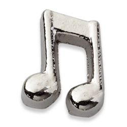 Silvertone Music Note Charm