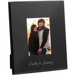 Personalized Black Glass 5x7 Frame