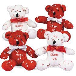 """12 Plush Mini Hugs & Kisses 4"""" Plush Bears"""