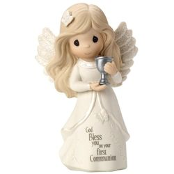 Girl's God Bless You on Your First Communion Angel Figurine
