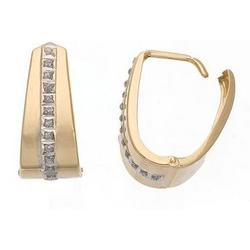 Diamond Fascination 14K Gold Hoop Earrings