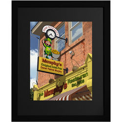 Personalized Time To Party Pub Sign Framed Print