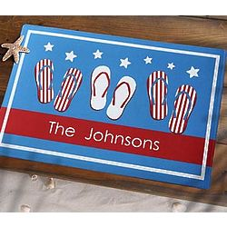 Patriotic Fourth of July Personalized Door Mat