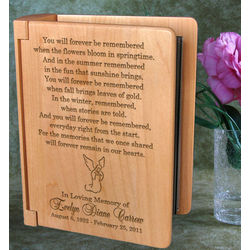 Personalized Remembrance Wooden Photo Album