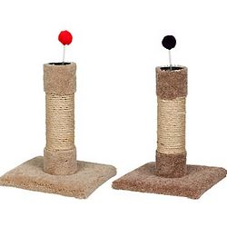 Sisal and Carpet Cat Scratch Post with Toy