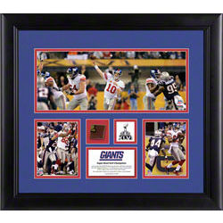New York Giants Super Bowl XLVI 3-Photograph Framed Collage