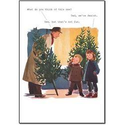 Dad We're Jewish Christmas Card