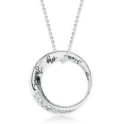 Sterling Silver Sentiments Circle Sister Pendant