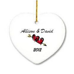 Couples Heart Ornament