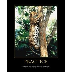 Practice Personalized Art Print