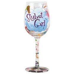 Stylist Girl Wine Glass