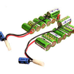 Two 8.4V, 4200mAh NMH Battery Packs with Capacitor Accelerators