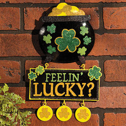St. Pat's Glittered 3D Wall Hanging